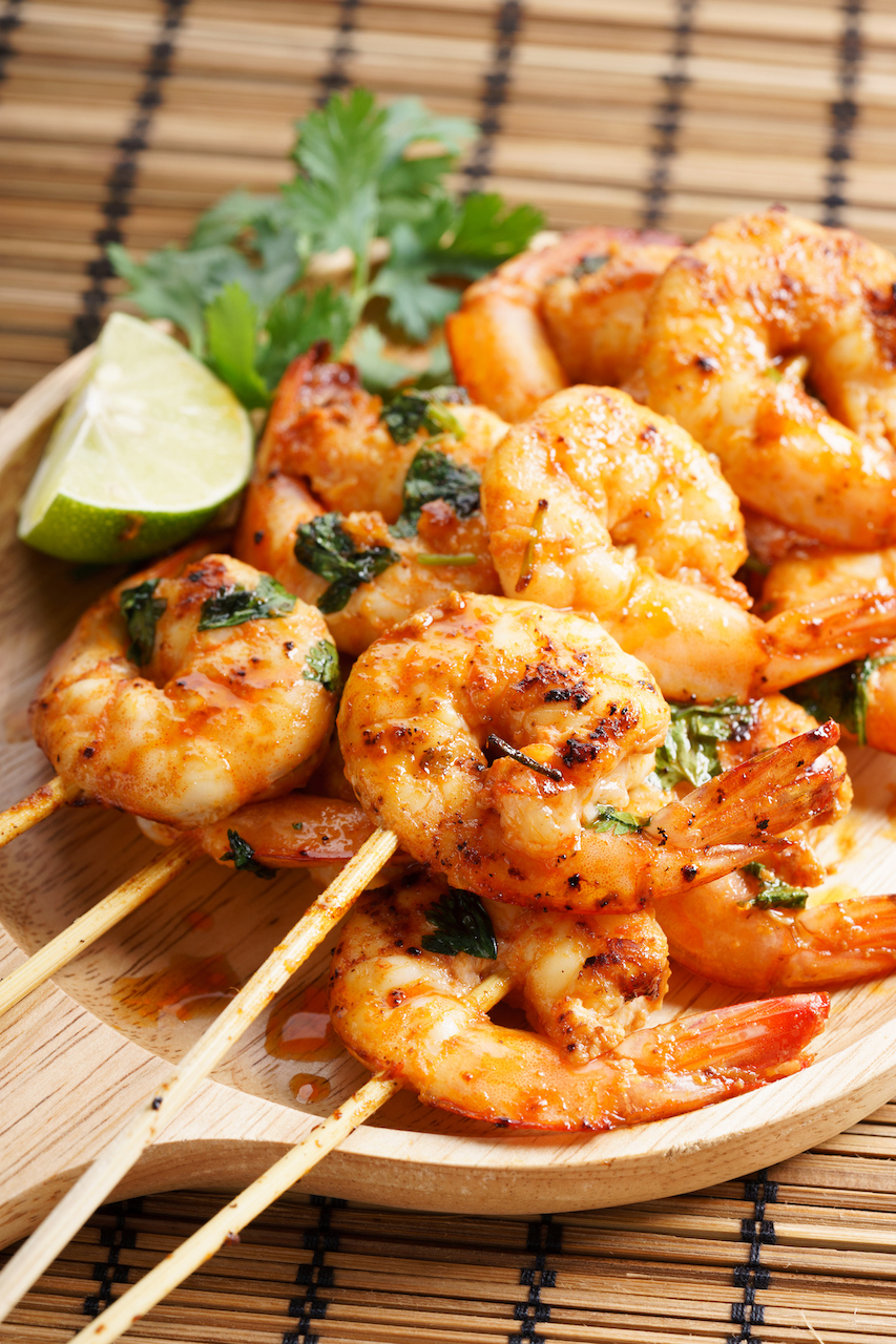 Shrimp kebabs for the bbq. Great as a main or appetizer